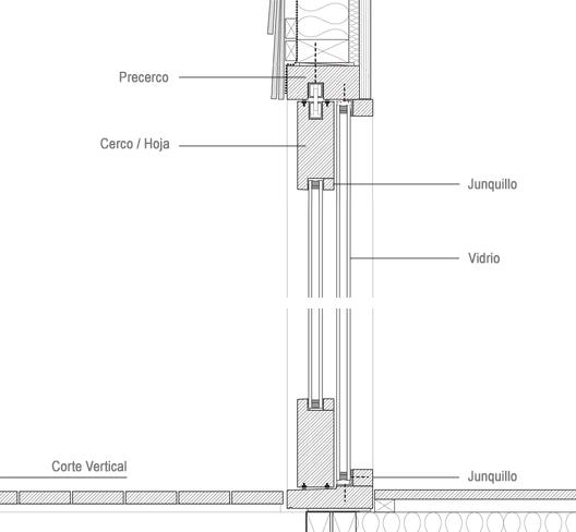Detalle Ventana, Carpintería Madera. Cabaña para un Escritor / WSD Architecture