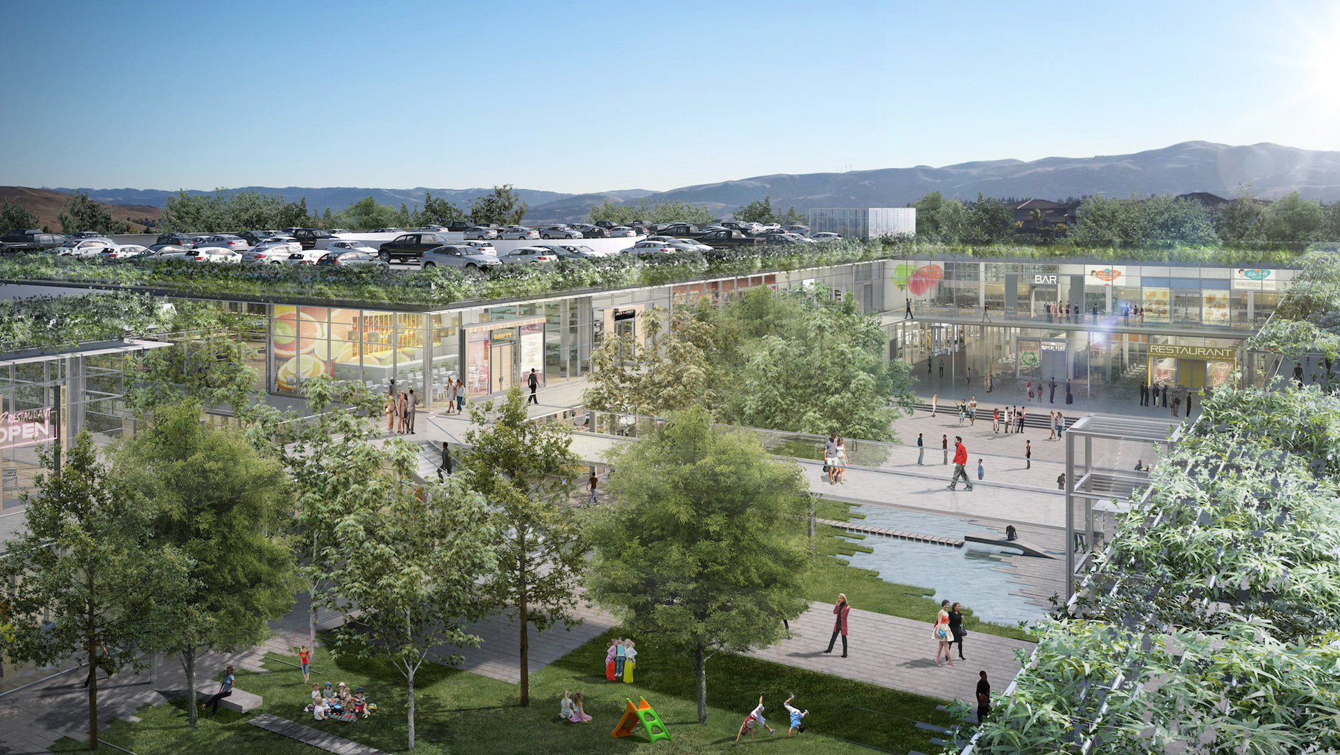 "Renzo Piano Returns to Bay Area, Designs ""Plaza District"" for City Center, Courtesy of RPBW"