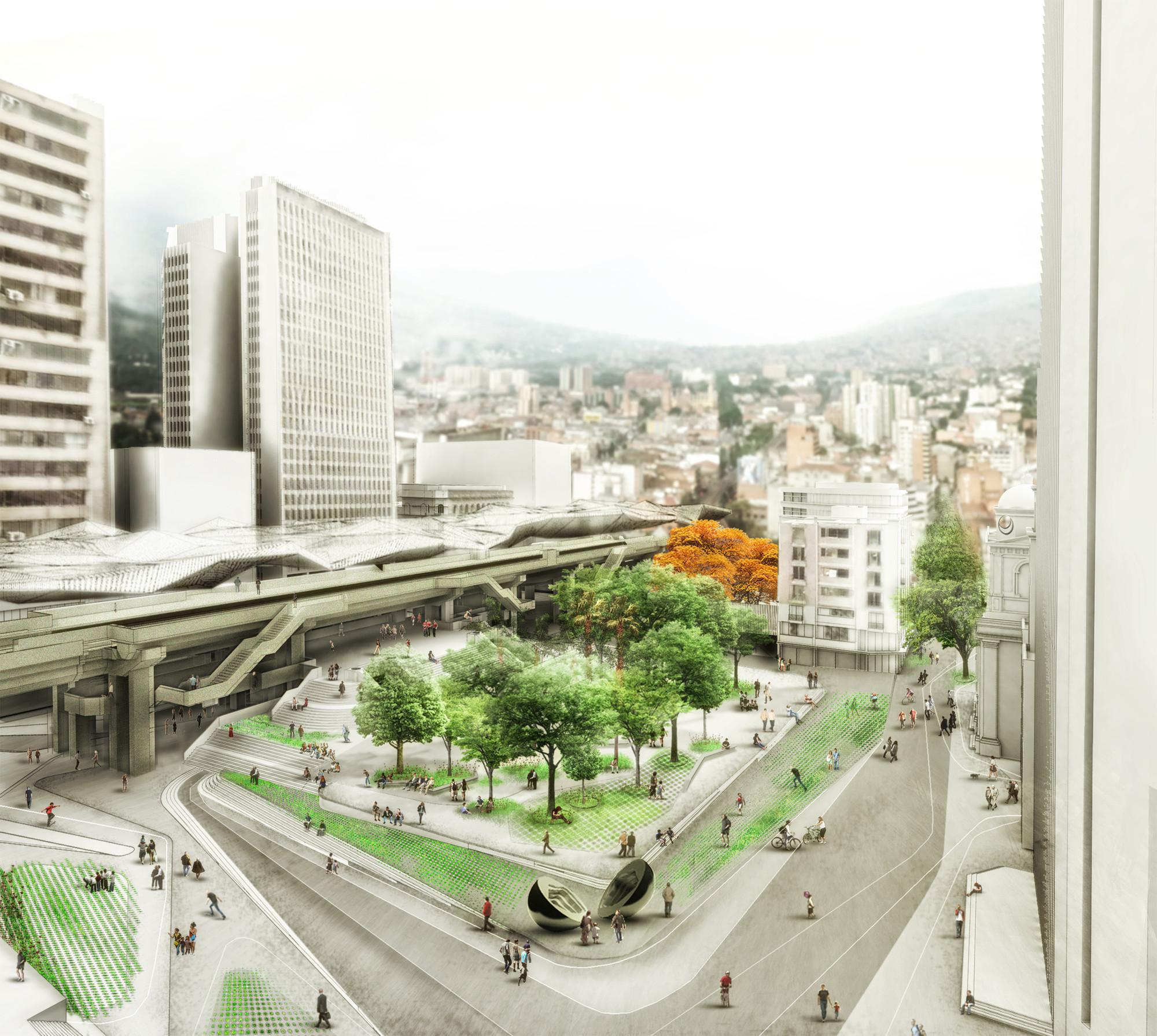 Parque Berrio como Génesis. Image Courtesy of célula / María Paula Vallejo Arquitectura