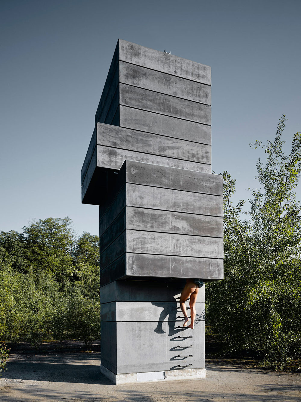 one man sauna modulorbeat archdaily