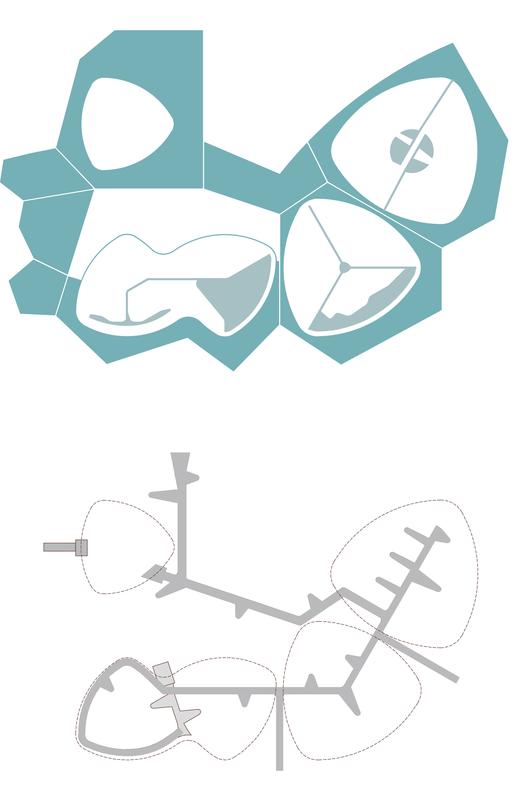 Esquema de composición B. Image Courtesy of De Arquitectura y Paisaje
