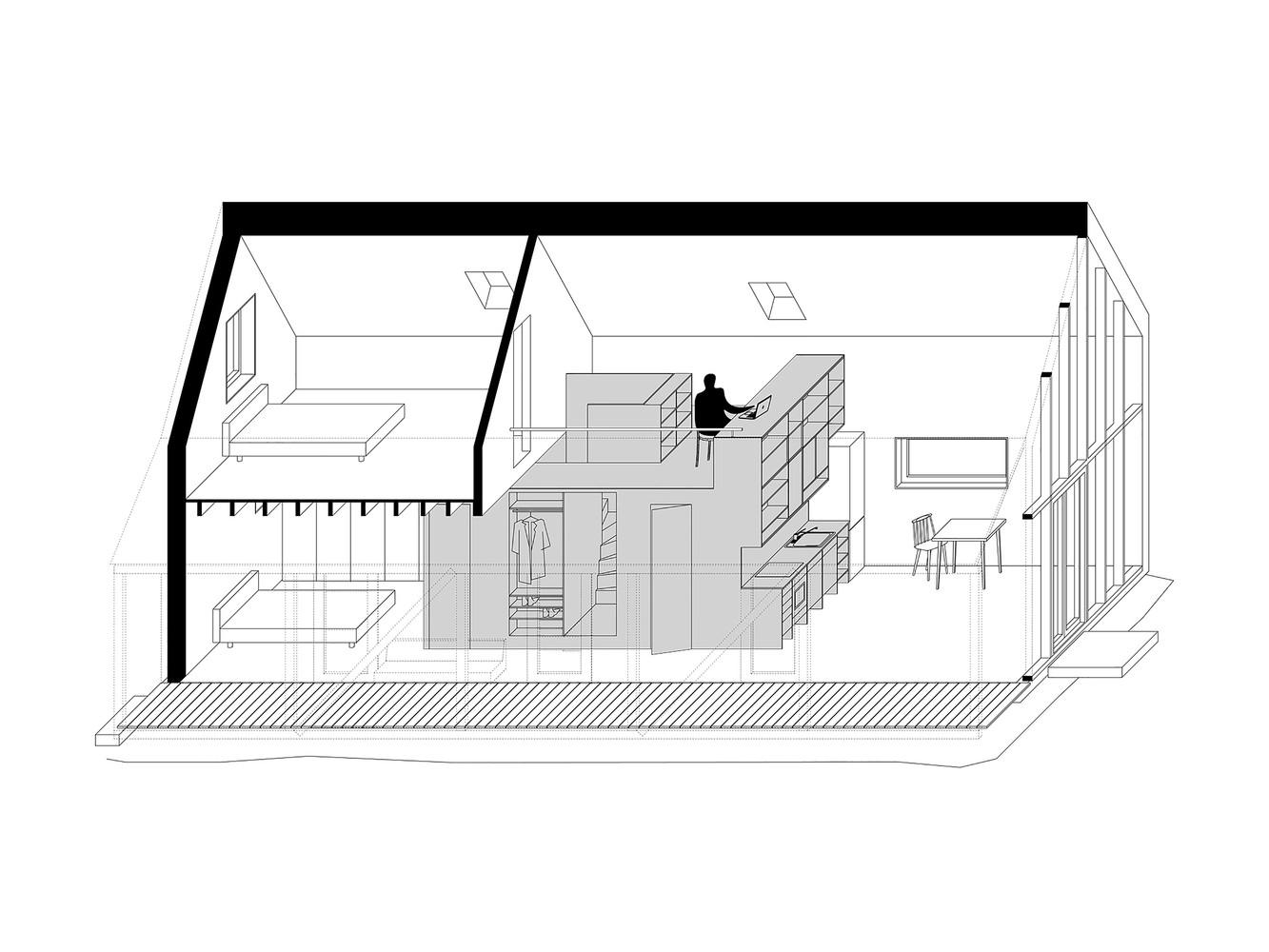 IST-Family House,Axonometric 1