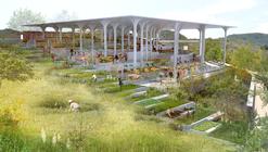 Estrutura leve de concreto vence competição para a nova Praça do Mercado de Gramalote, Colômbia