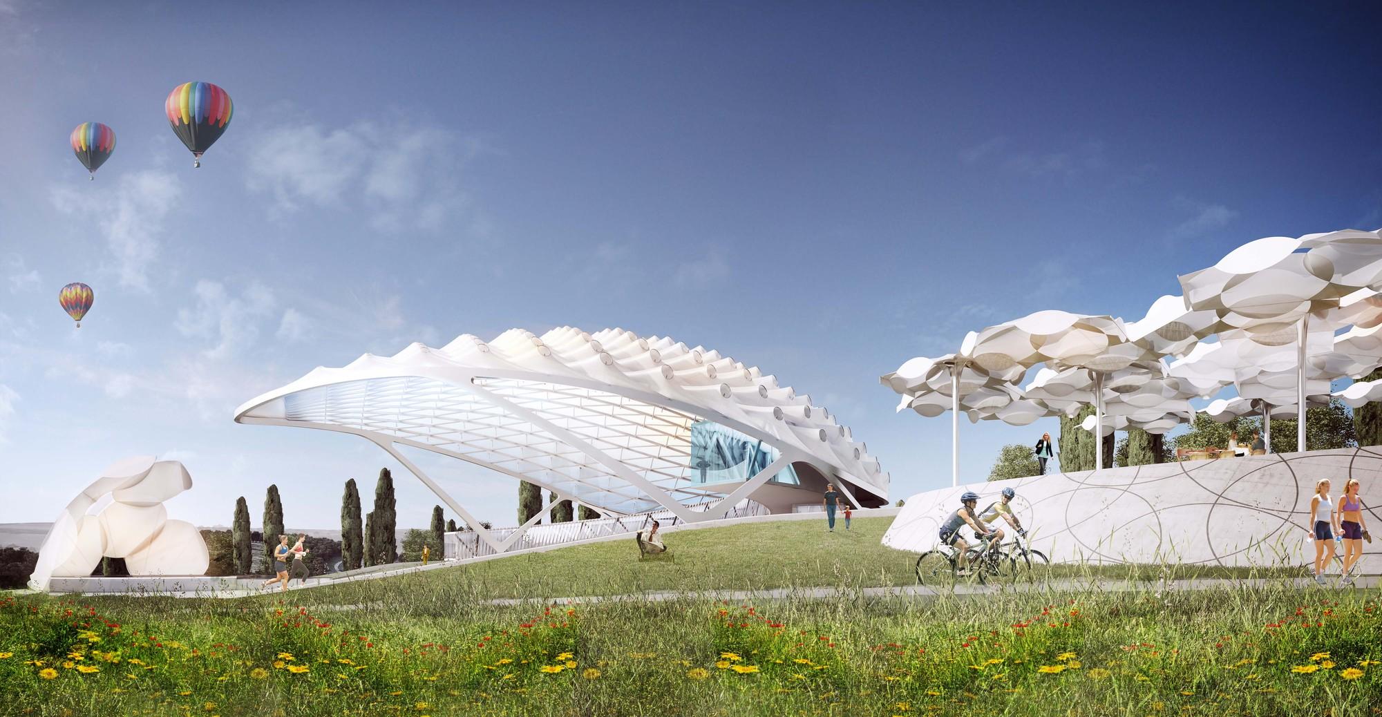 Vista del anfiteatro. Imagen Cortesía de Asymptote Architects