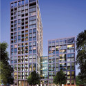 Building 6 & 7 – residential use; GRID Architecture. Image Courtesy of The Canary Wharf and Qatari Diar Groups