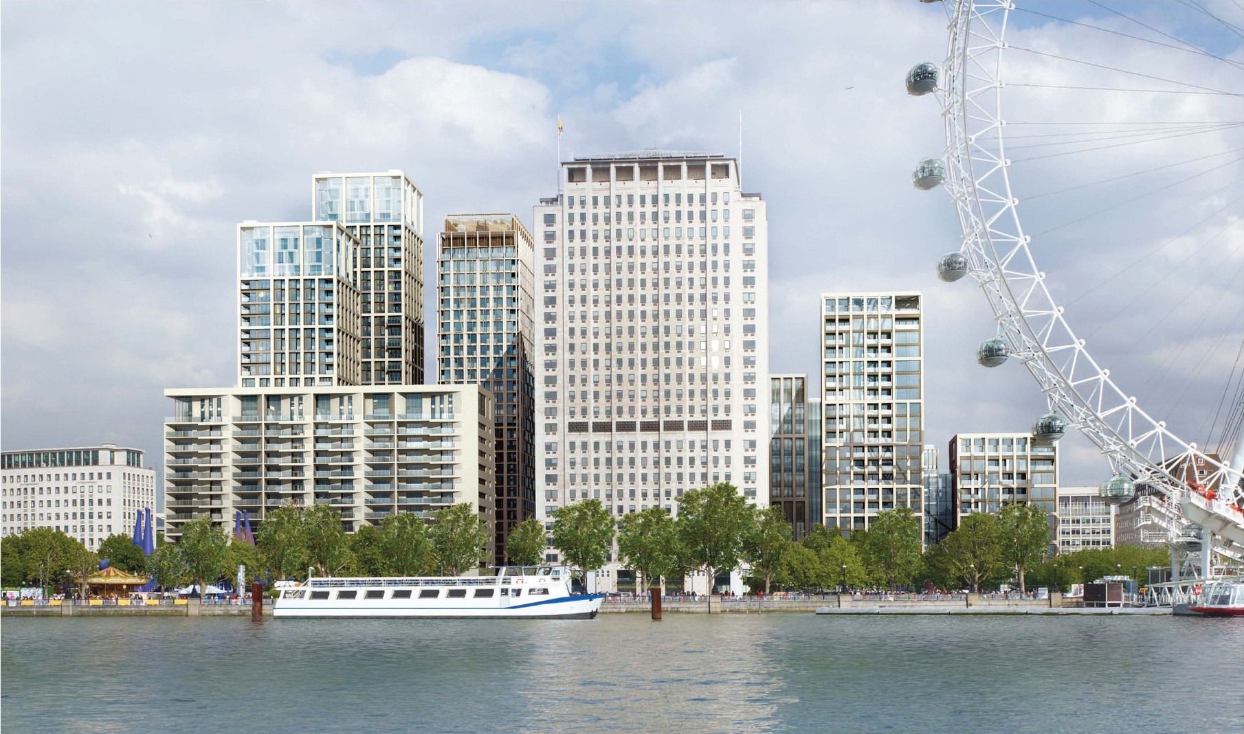 London's Shell Centre Awarded Planning Permission, Courtesy of The Canary Wharf and Qatari Diar Groups