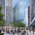 The public square; Townshend Landscape Architects. Image Courtesy of The Canary Wharf and Qatari Diar Groups