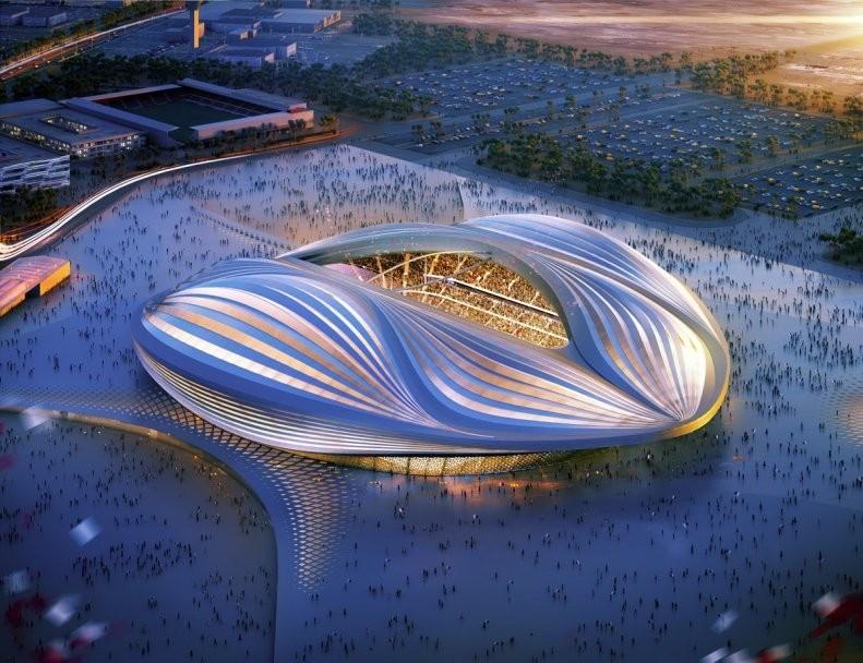 "Diseño de Zaha Hadid Architects' para el ""Al Wakrah Stadium"". Imagen © ZHA"