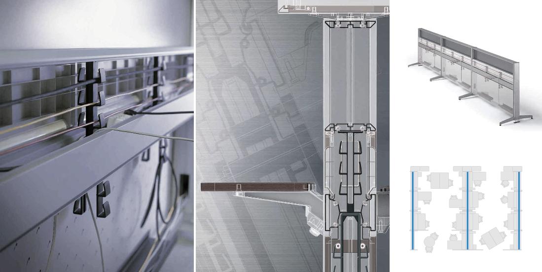 Columna Vertebral de Cables. Mobiliario de Oficinas Expace / SOS/Fursys