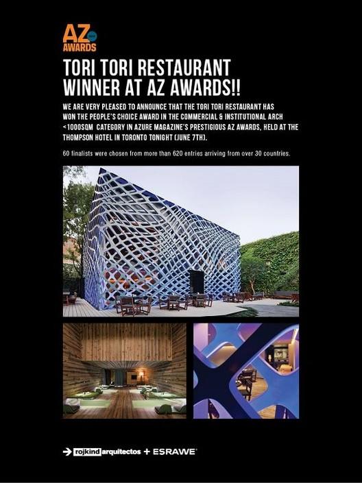 Arquitectura Mexicana se lleva AZ awards 2012: Tori Tori y la capilla del Atardecer
