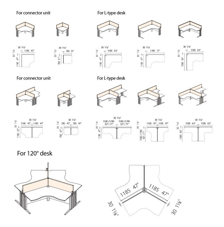 Mobiliario de Oficina Puzzle Plu / SOS/Fursys