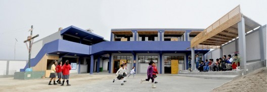 The Maria Auxiliadora School in Peru, designed/built with help from Architecture for Humanity Design Fellow, Diego Collazo, and with funding from the Happy Hearts Fund and the SURA Group. Image Courtesy of Maria Auxiliadora School