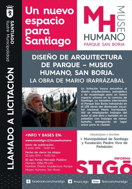 Convocatoria: licitación del diseño Parque-Museo Humano / Santiago, Chile, Courtesy of I. Municipalidad de Santiago y Fundación Piedra Viva de Peñalolén