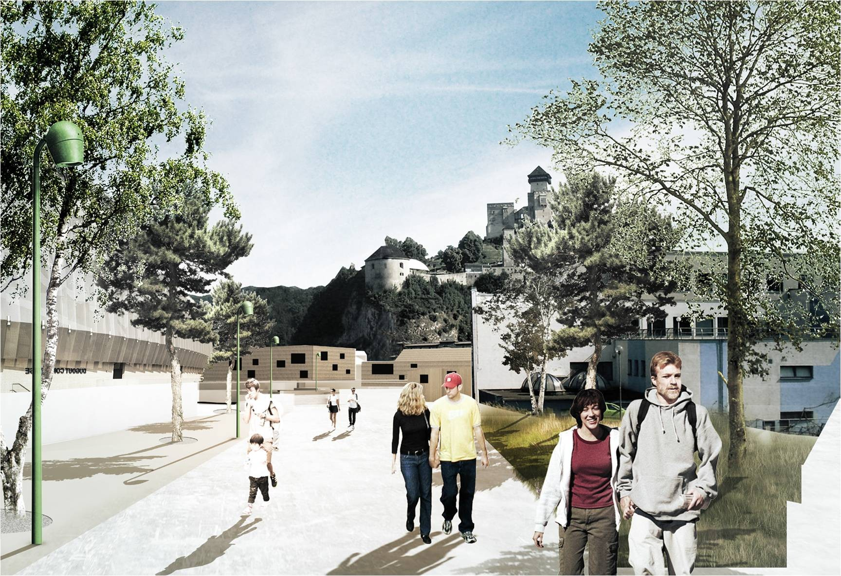 Swedish Team Win Urban Design Competition in Trenčín, First Place. Image Courtesy of City of Trenčín