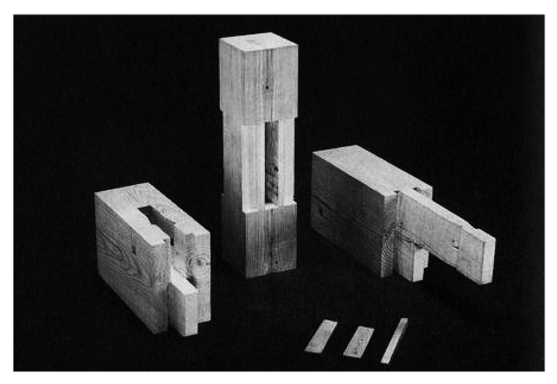 Empalme de doble clavija. Image Courtesy of Torashichi Sumiyoshi y Gengo Matsui