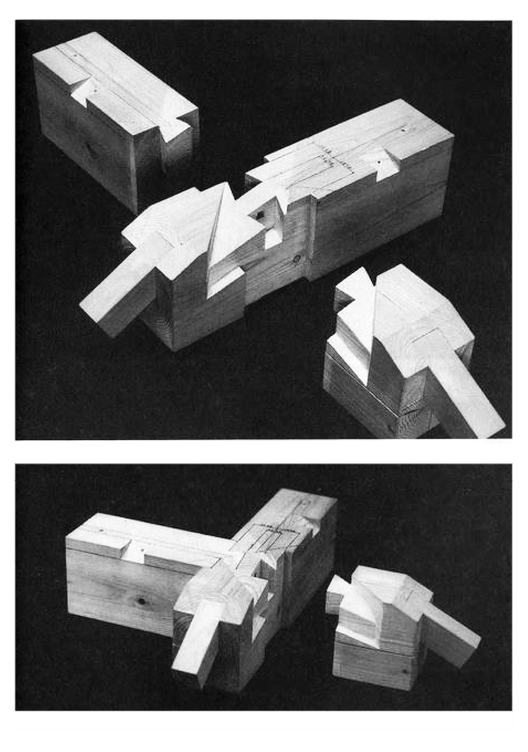 "Empalme de múltiples clavijas. ""Yosemune no sumi"". Image Courtesy of Torashichi Sumiyoshi y Gengo Matsui"
