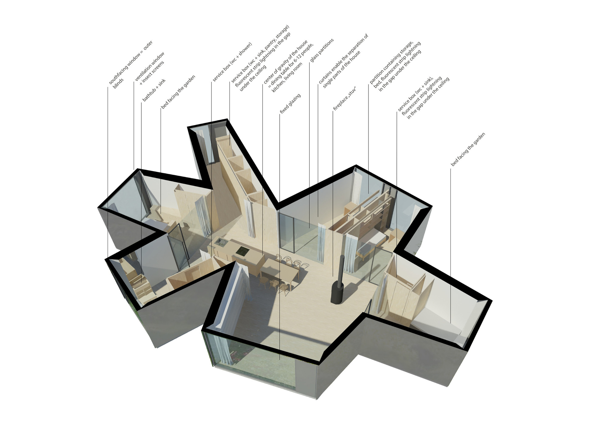 Gallery of Chameleon House / Petr Hajek Architekti - 15