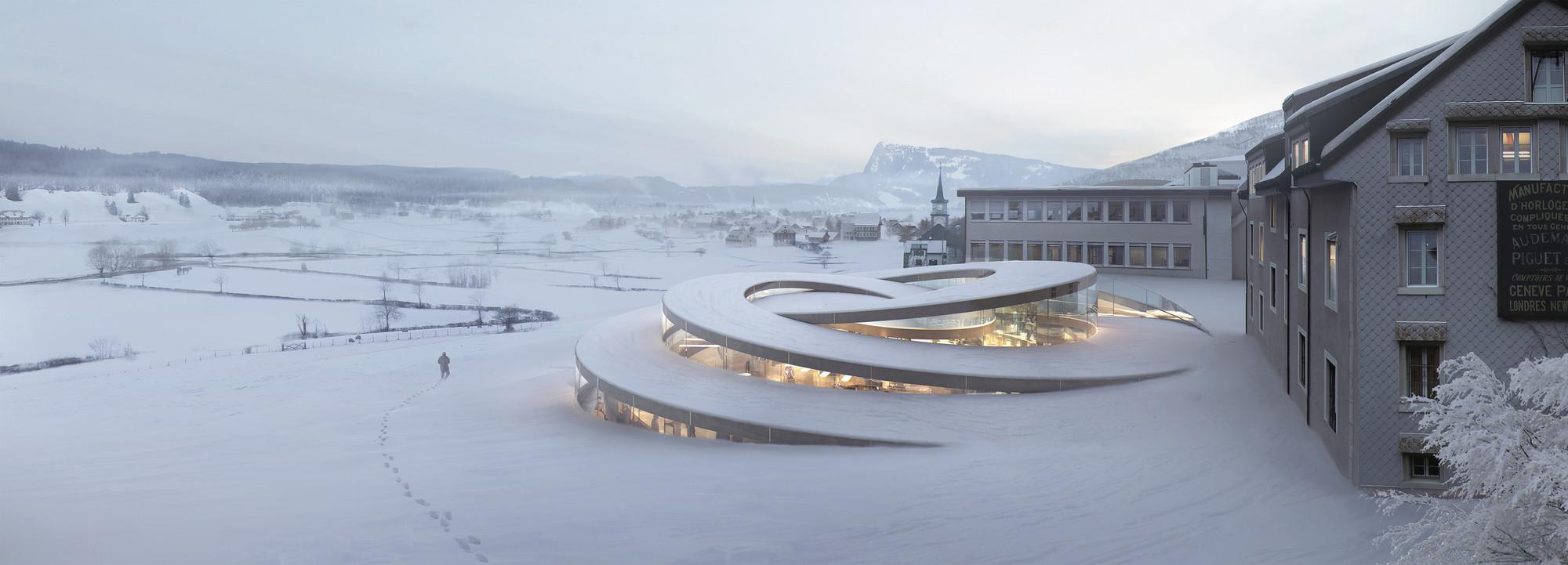 BIG Diseña Museo en espiral para relojeros Suizos, Courtesy of BIG