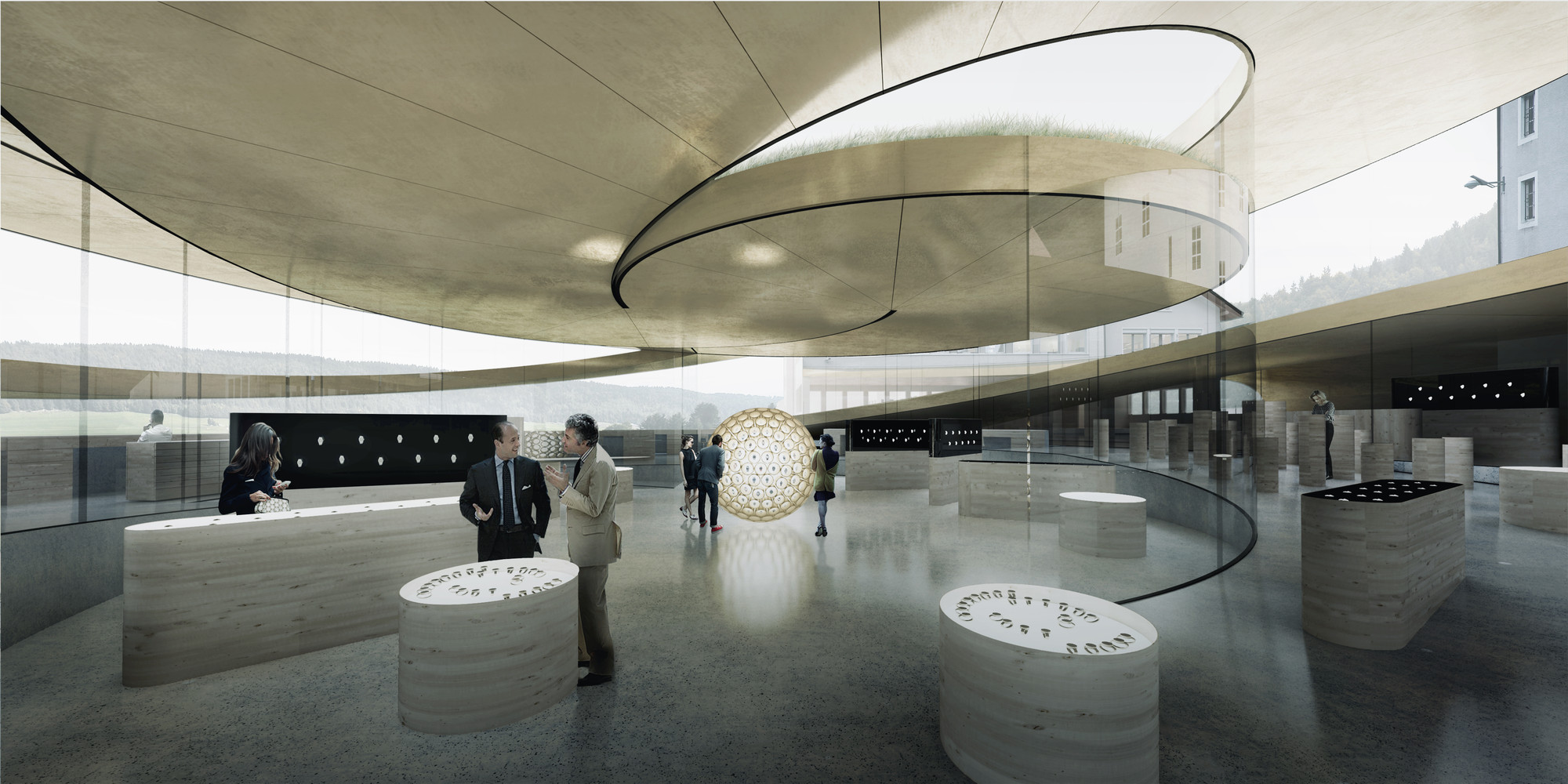 Big designs spiralling museum for swiss watchmaker archdaily for K architecture geneve