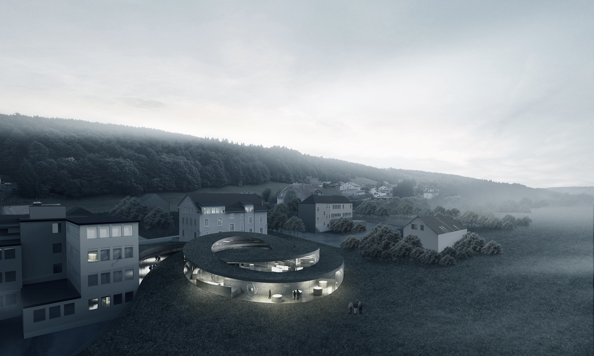 Big designs spiralling museum for swiss watchmaker archdaily for Big architecte