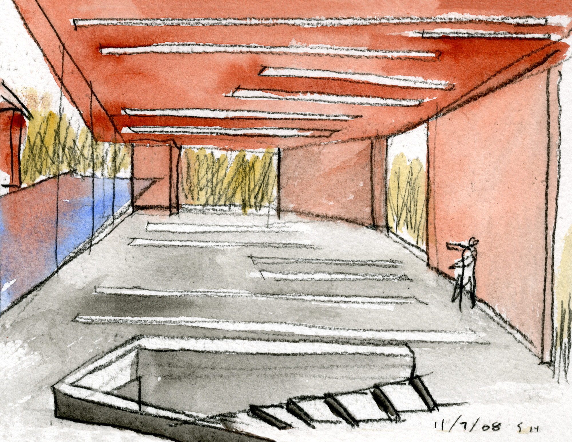 Dibujo. Image Courtesy of Steven Holl Architects