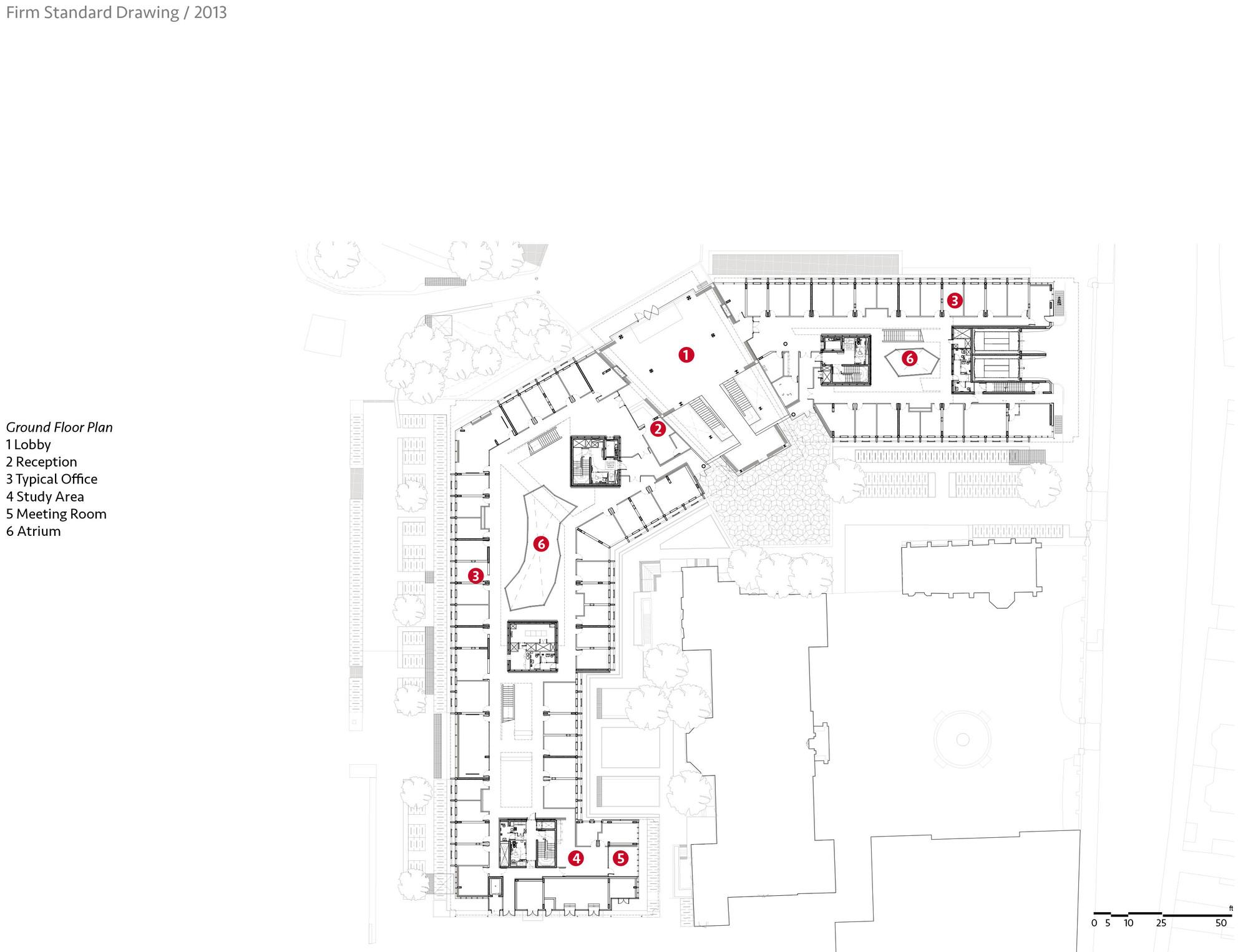 University of oxford mathematical institute rafael for Oxford floor plan
