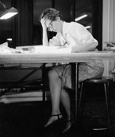 Phyllis Lambert, 1959, during her studies at the Illinois Institute of Technology. Image Courtesy of Ed Duckett