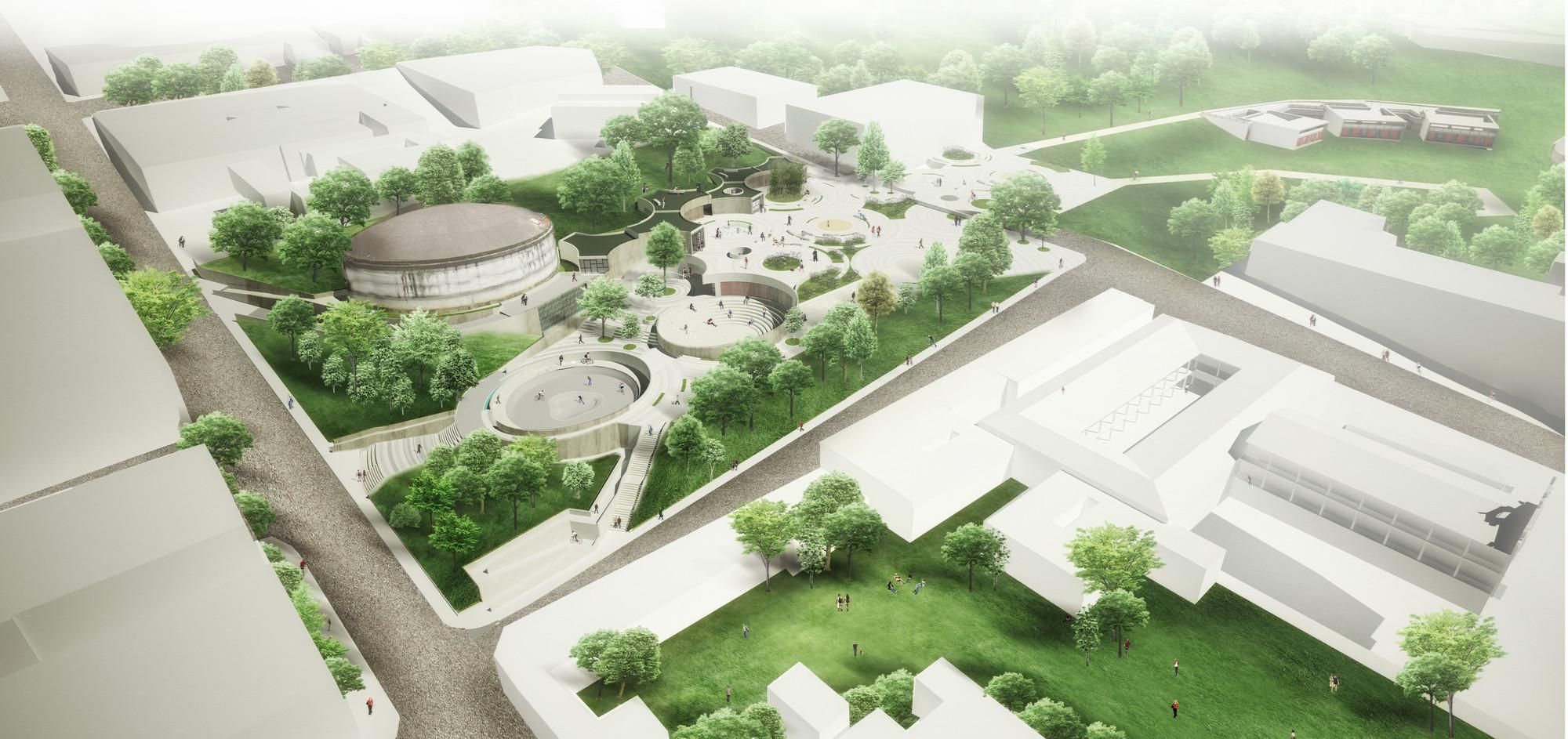 Segundo Lugar en concurso nacional UVA Orfelinato / Medellín, Colombia, Courtesy of Labranza Arquitectura S.A.S.