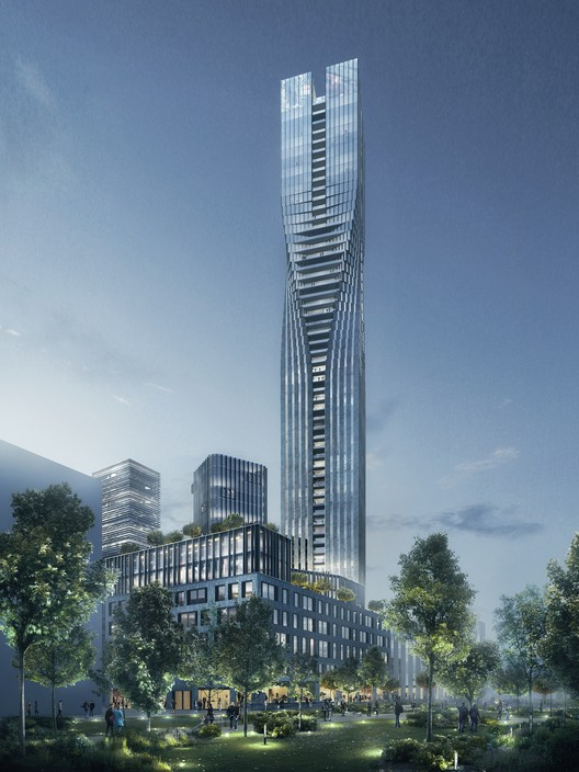 SOM Wins Competition for Sweden's Tallest Tower, Courtesy of Serneke