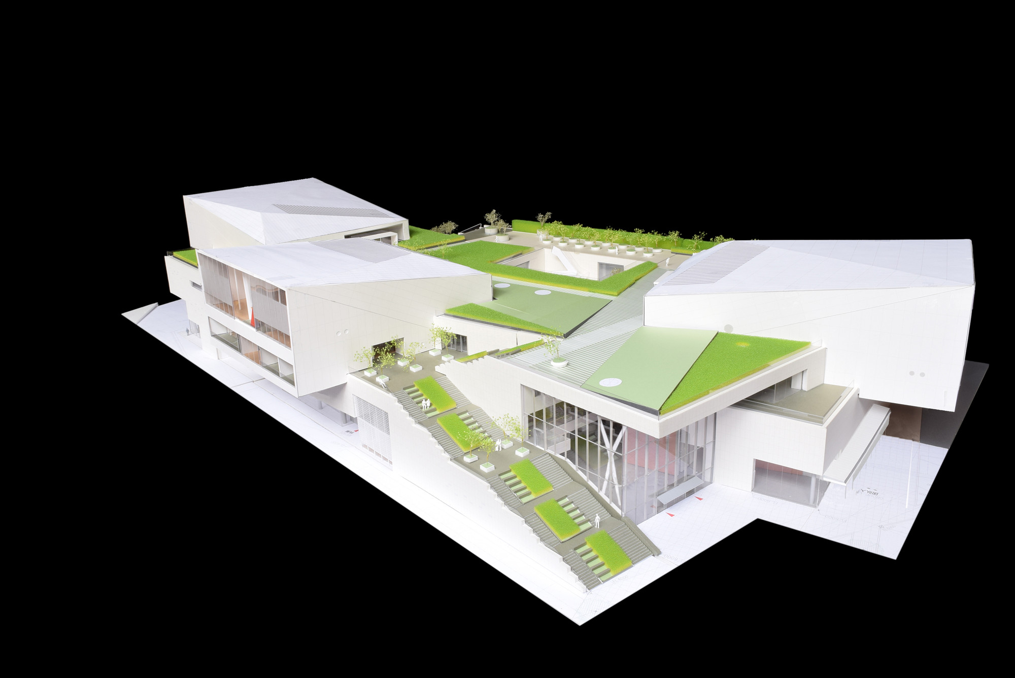 Model of the Shekou Museum. Image © China Merchants Property Development & Maki and Associates