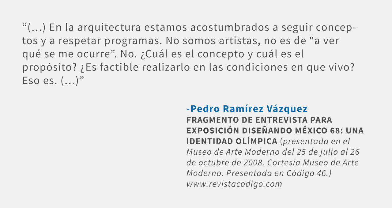 Frases: Pedro Ramírez Vázquez