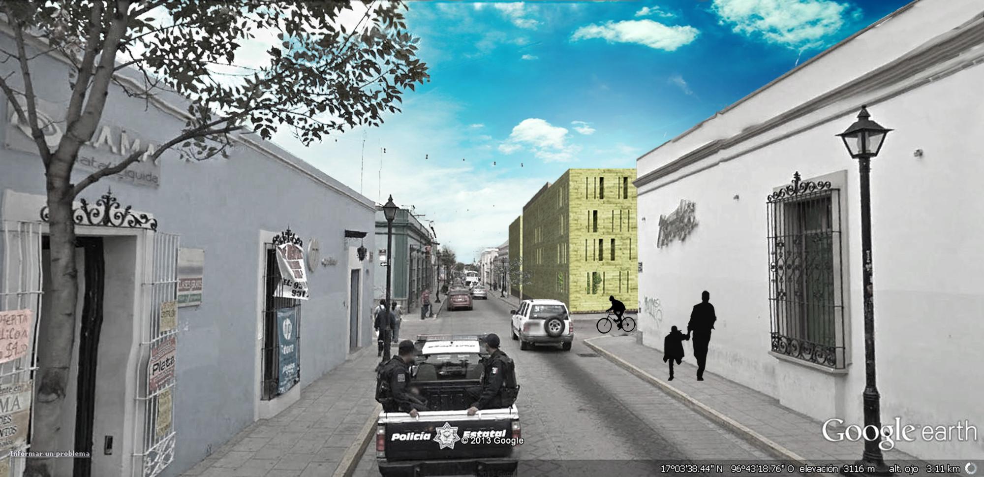 Cortesía Equipo Primer Lugar. ImagePerspectiva Exterior desde Melchor Ocampo