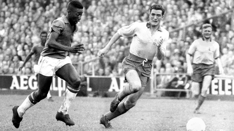 Pelé en la final de Suecia 1958. Image © DFB.de