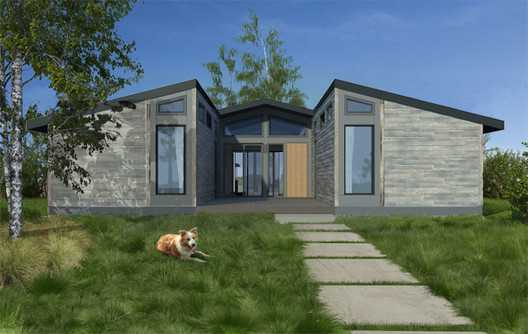 LivingHomes' Design. Image Courtesy of Living Homes