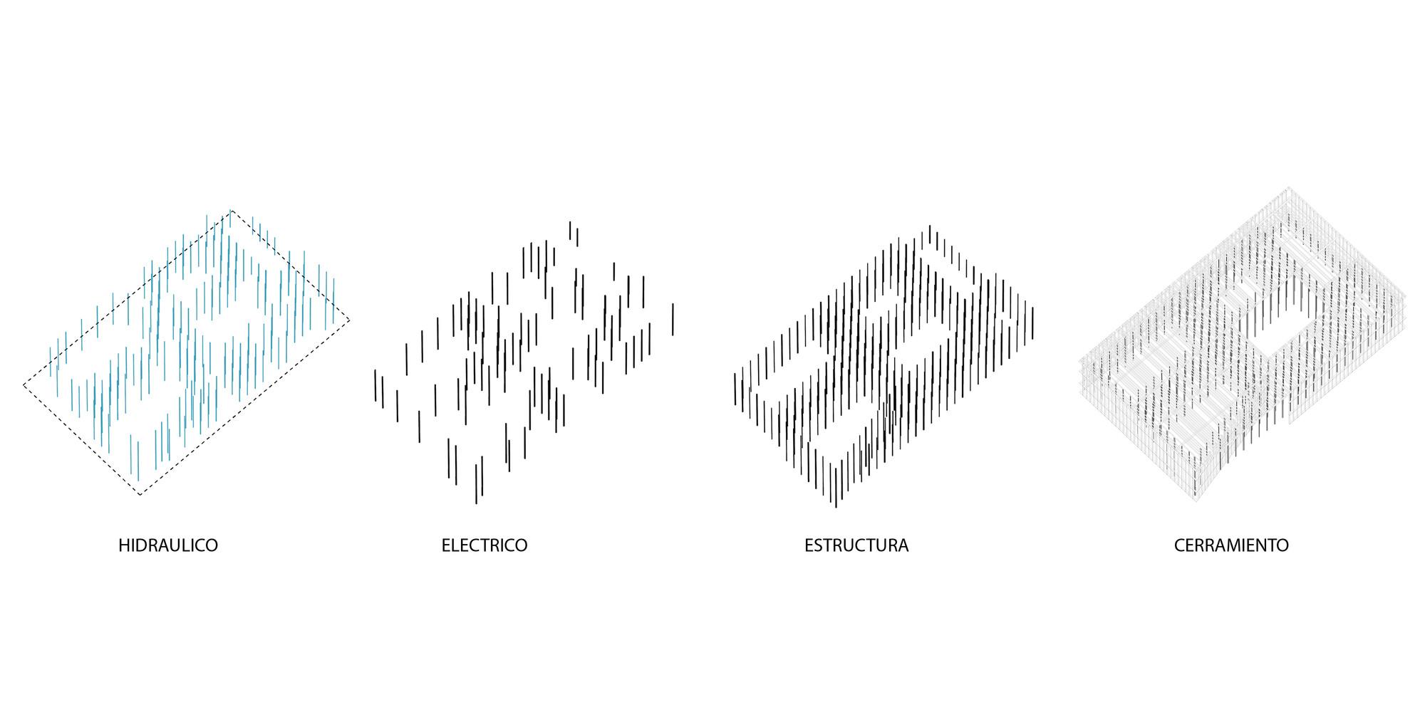 Esquema técnico. Image Courtesy of Equipo Segundo Lugar