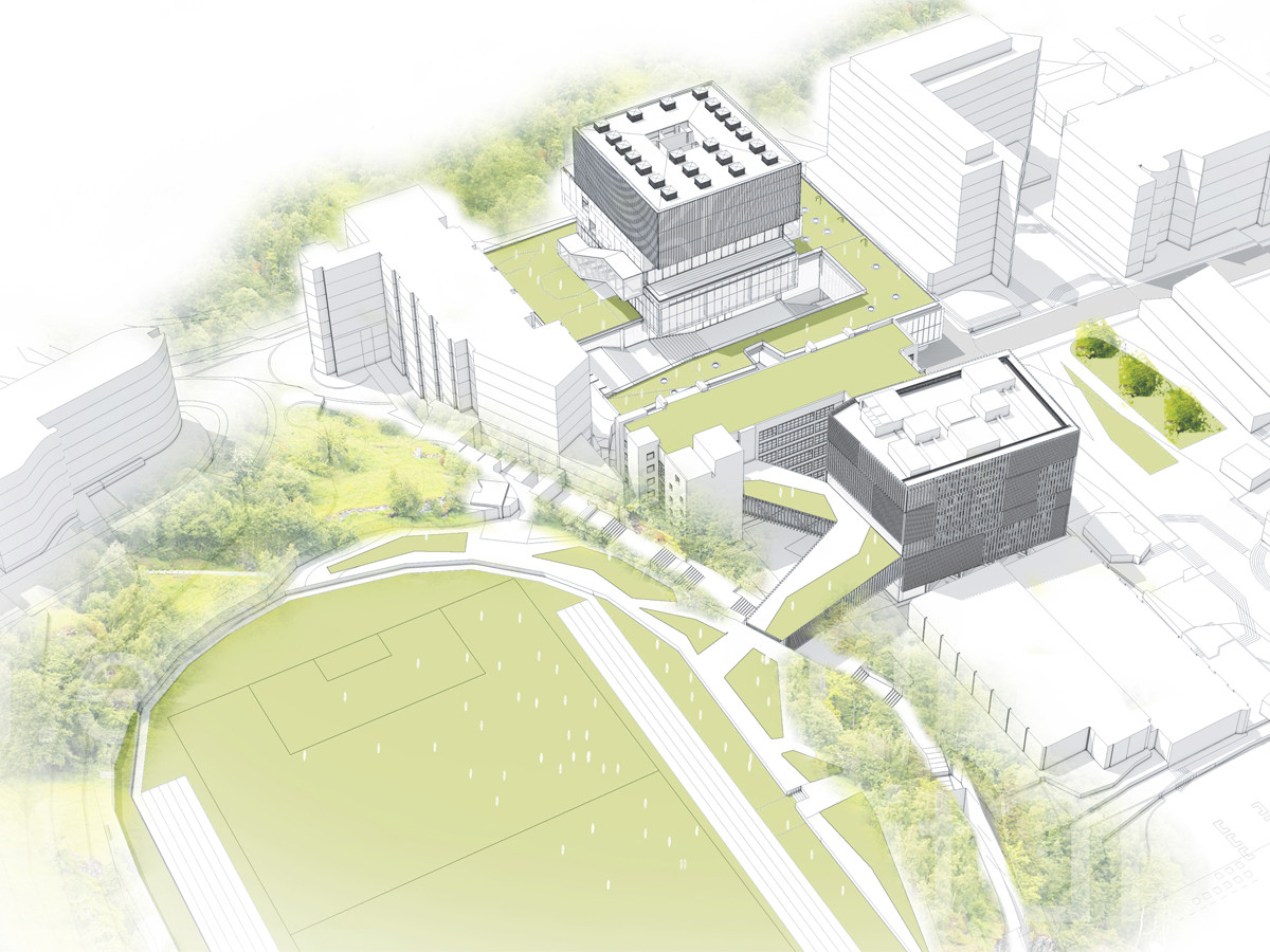 Axonométrica urbana. Image Courtesy of LAROTTA + DAMM arquitectura