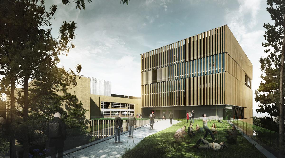 Menci n honrosa en competici n del dise o de facultad de for Arquitectos colombianos