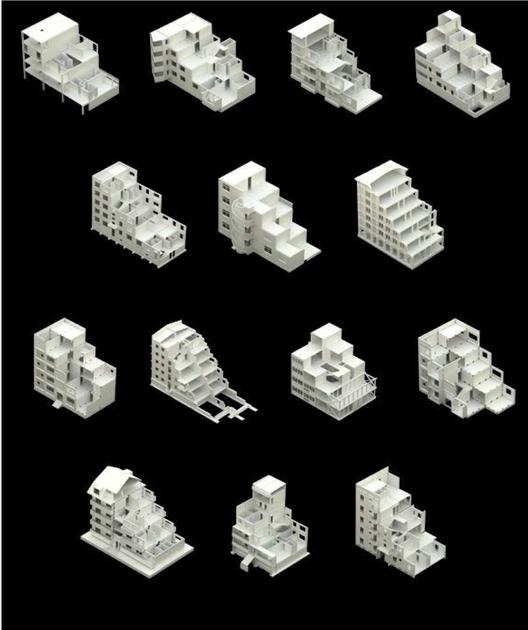 """Modelos digitales desarrollados por estudiantes del Taller """"De abstracto a concreto"""" (2011-2012). Image Courtesy of Pedro Alonso y Hugo Palmarola"""