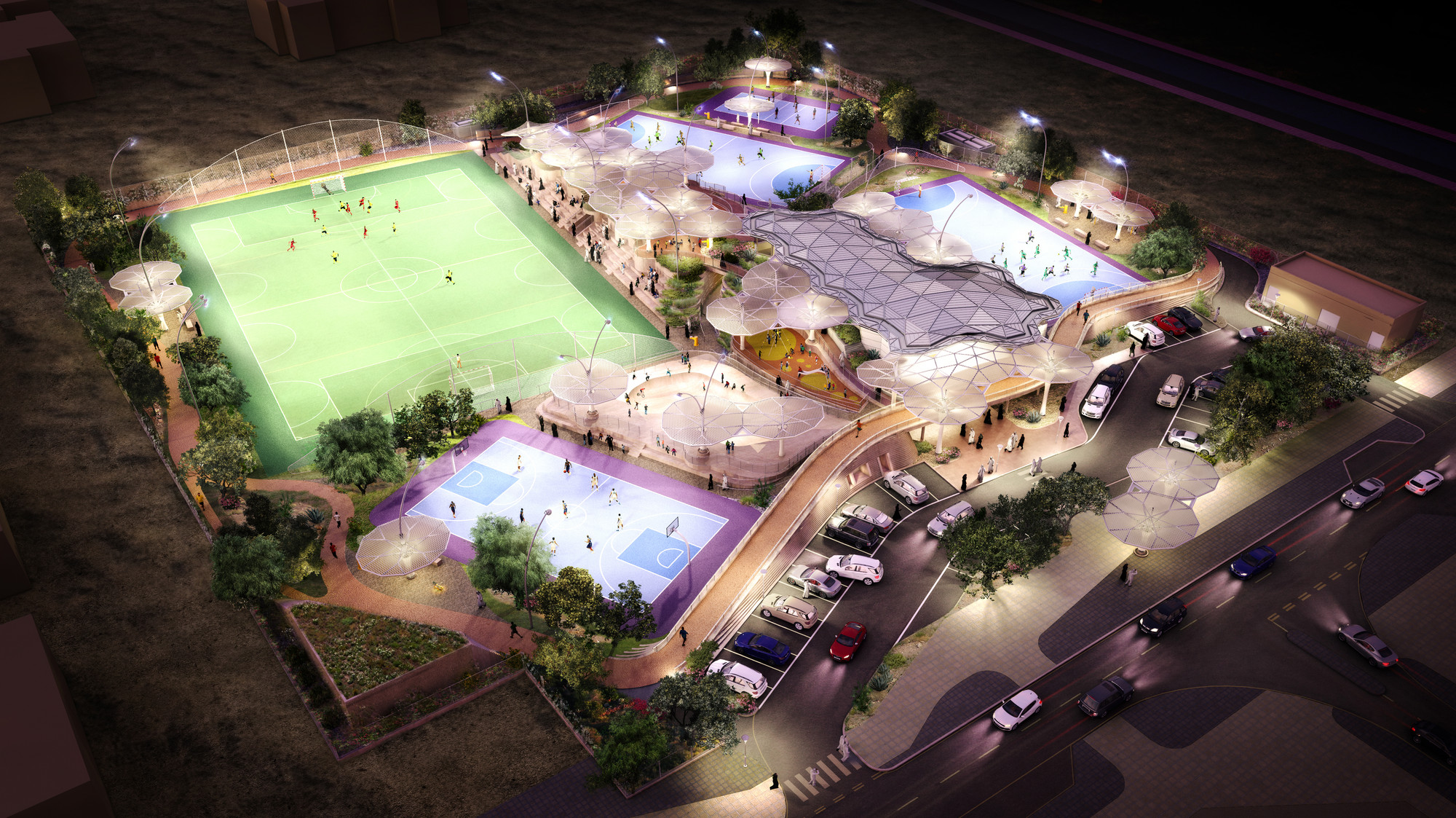 Grimshaw Picked to Design Recreational Sports Facilities in Qatar, Courtesy of Grimshaw