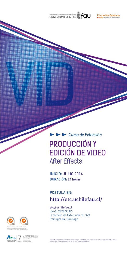 """Curso de extensión en """"producción y edición de video: After Effects"""" / ¡Sorteamos dos medias becas!"""