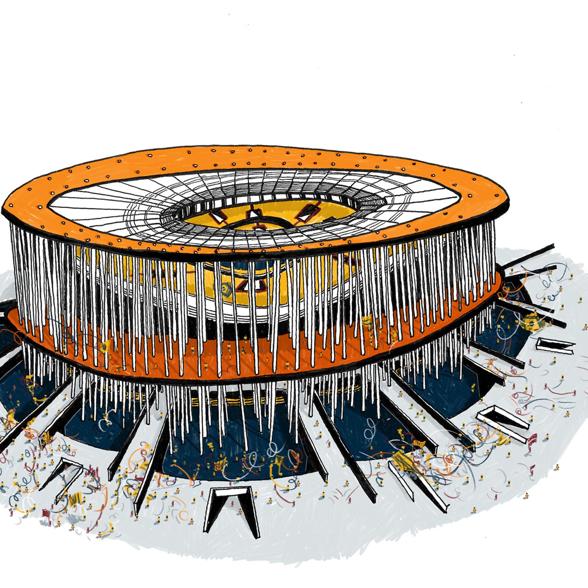 Estadio Mané Garrincha - Brasília. Imagen Cortesía de Vapor 324
