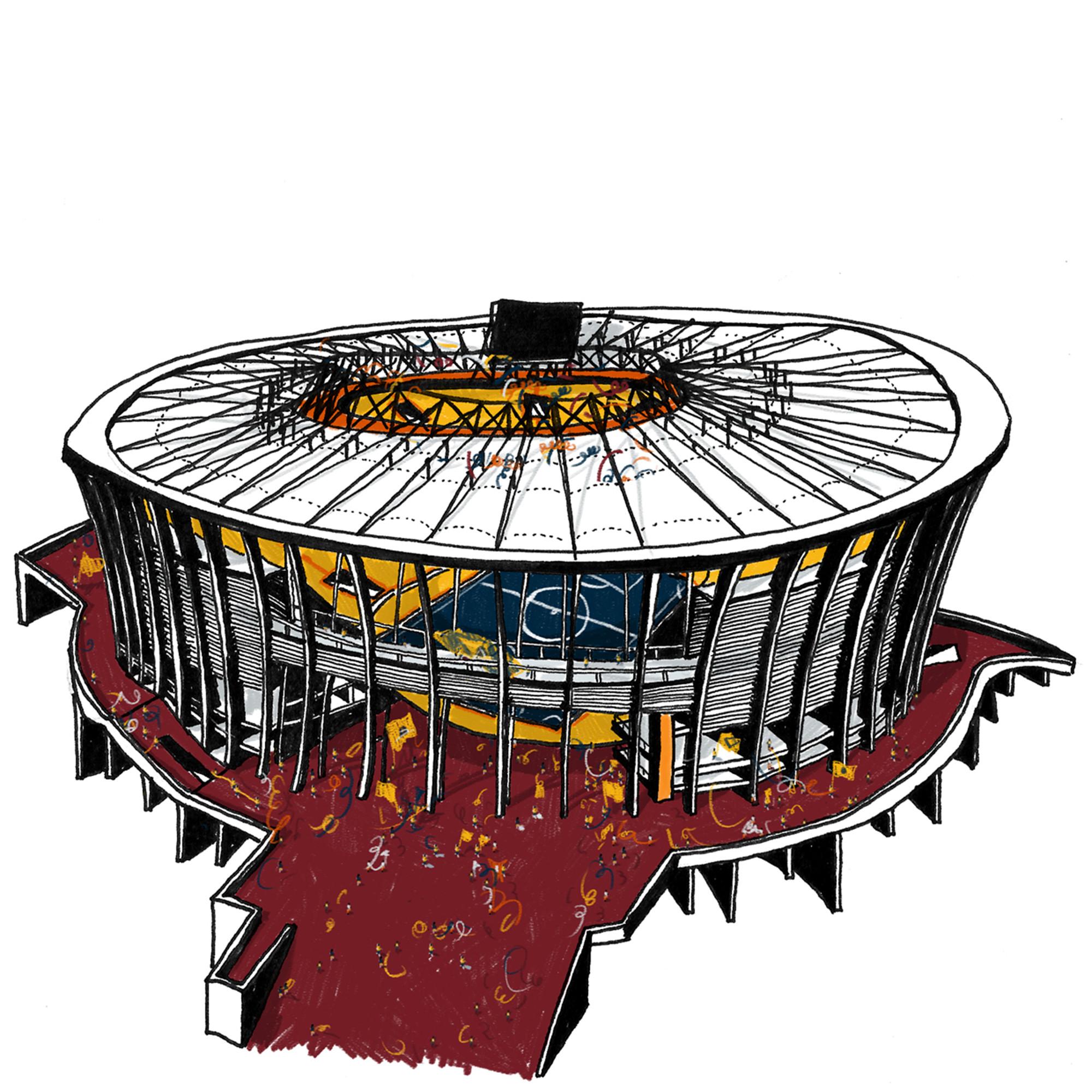 Arena Fonte Nova - Salvador. Imagen Cortesía de Vapor 324