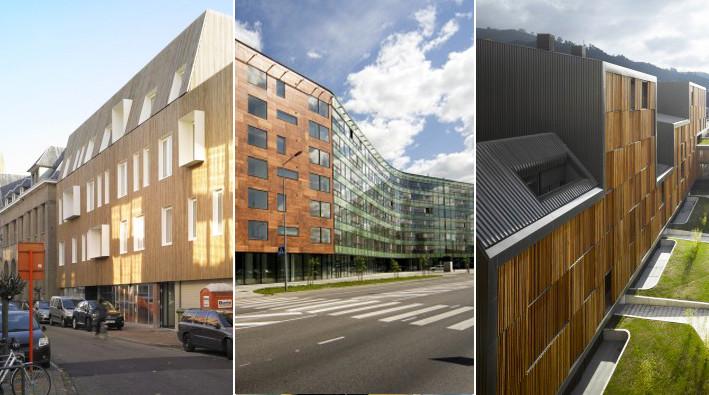 Edificios fachadas de madera plataforma arquitectura - Fachadas arquitectura ...