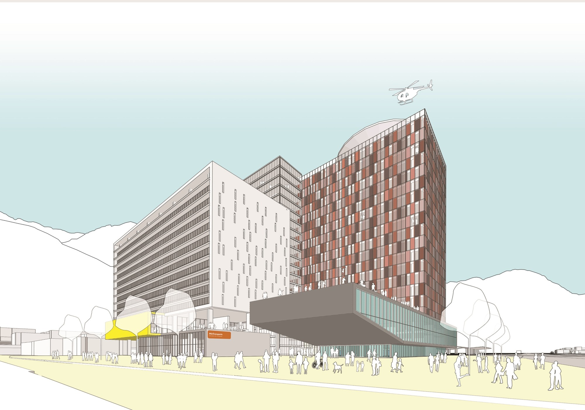 Segundo lugar en concurso público de Ideas – Proyecto Ministerios / Colombia, Courtesy of JAC Arquitectos