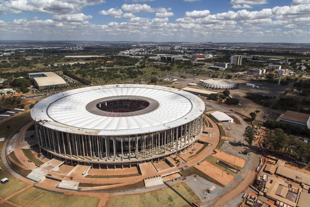 Estadio Nacional en Brasilia. Image © Portal da Copa/ME