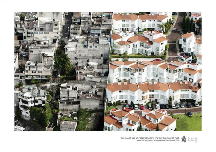 Fotografía de Arquitectura: 'Mundos Aislados', segregación urbana y desigualdad en Santa Fe, Vía Adeevee. Image © Oscar Ruiz