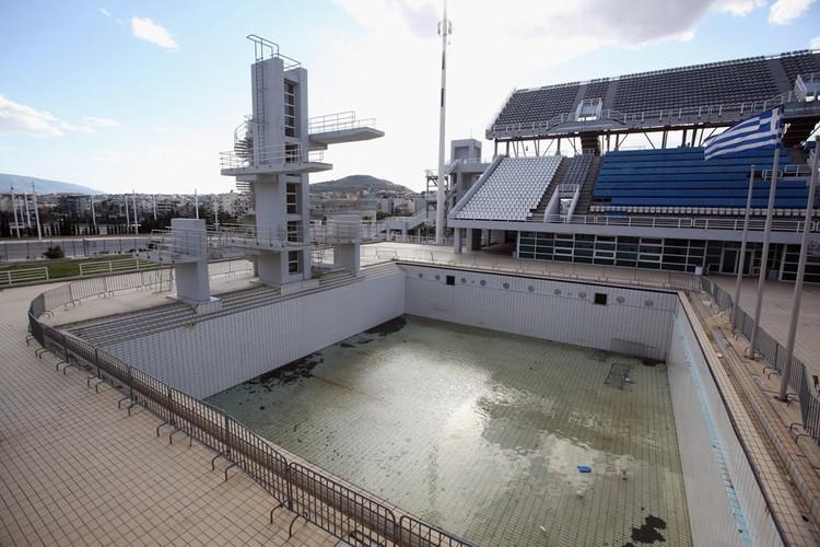 Centro acuático olímpico de Atenas en 2012. Image © Vía Business Insider