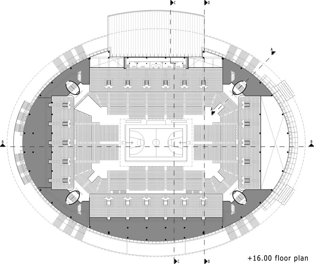 Estadio Ankara Arena / Yazgan Design Architecture. Planta