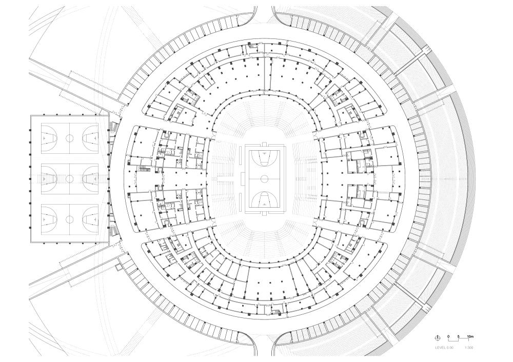 Estadio de Baloncesto en Dongguan / gmp architekten. Planta