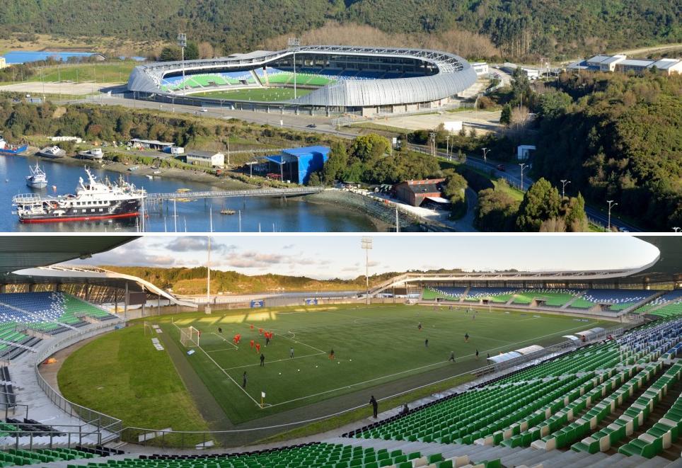 Estadio Chinquihue / Cristián Fernández Arquitectos. Image © Felipe Diaz